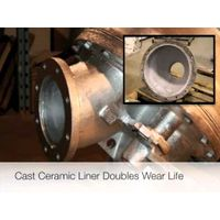 Unicast Ceramic-Lined Slurry Valve in Action (CLV)  Unicast Wear Parts